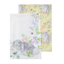 servilletas de tela con conejo estampado de diseño