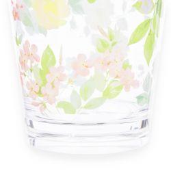 vaso acrílico estampado con flores de colores de diseño