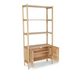 mueble estantería librería de roble de diseño
