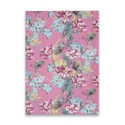 2 trapos de cocina estampados con flores de colores rosa de diseño