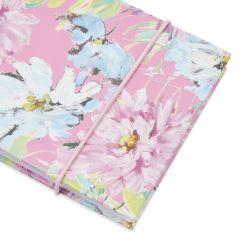 papelería bonita estampadas con flores de colores rosa de diseño