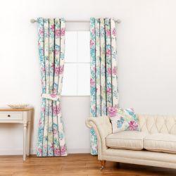 tela de flores de colores de diseño para cortinas y estores