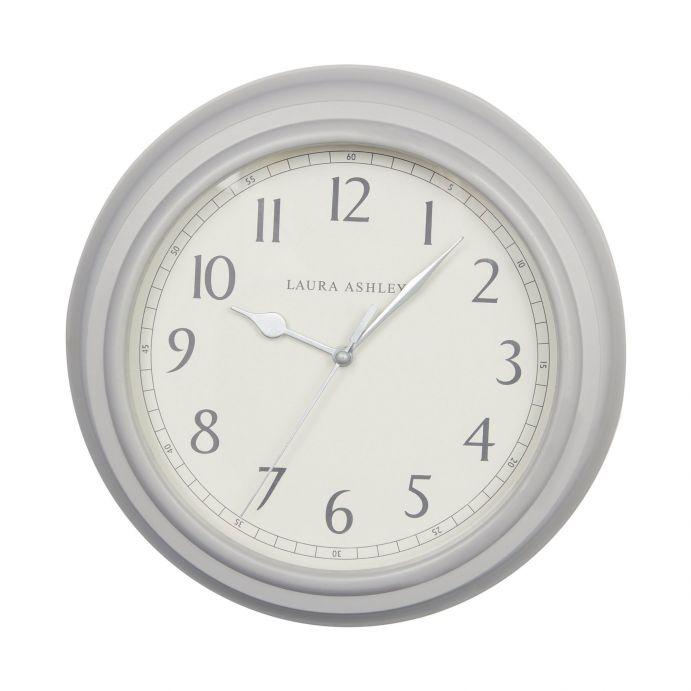 reloj de pared gris de diseño