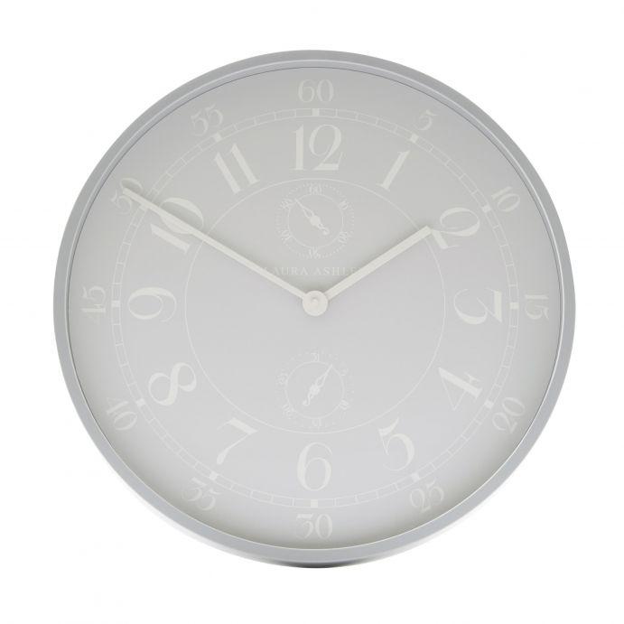 gran reloj de pared redondo de color gris