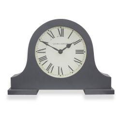 reloj de sobremesa curvado en gris oscuro