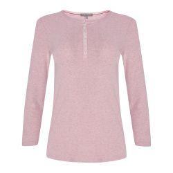 camiseta rosa lisa de algodón con ajuste perfecto