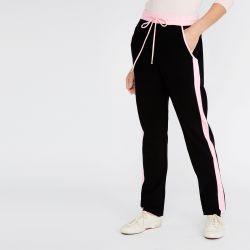 pantalón chandal jogger negro y rosa de diseño