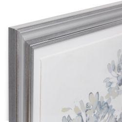 cuadro enmarcada con dibujo de hortensias en color gris