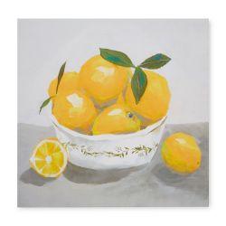 precioso cuadro con limones amarillos de diseño
