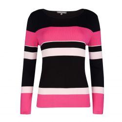 jersey de rayas rosas y negras de diseño