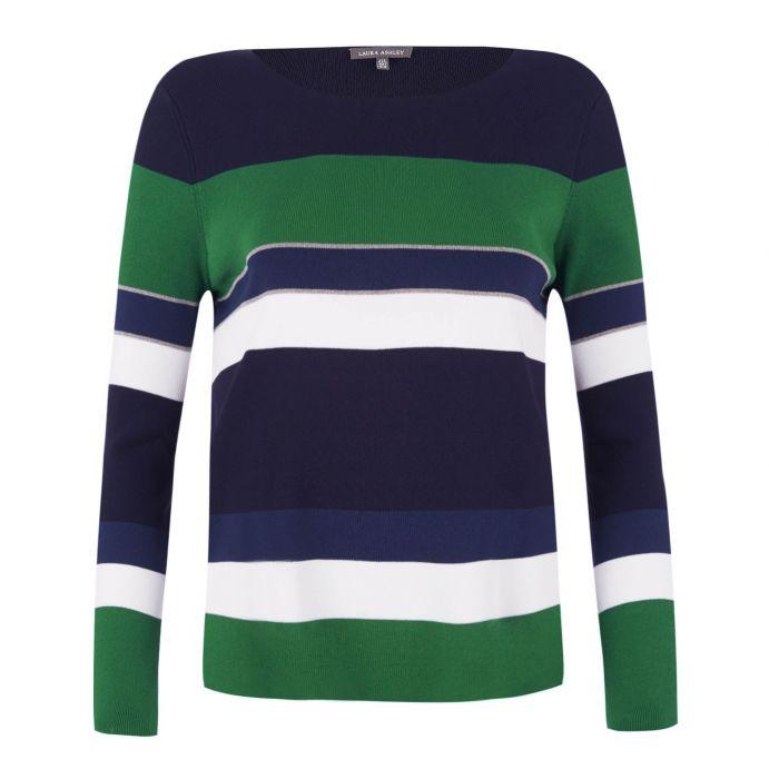 jersey de rayas verdes y azules de diseño