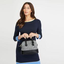 bolso textura gris y negro de diseño