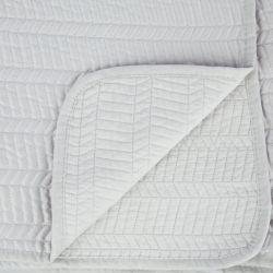 colcha de algodón gris plata de diseño para camas de revista
