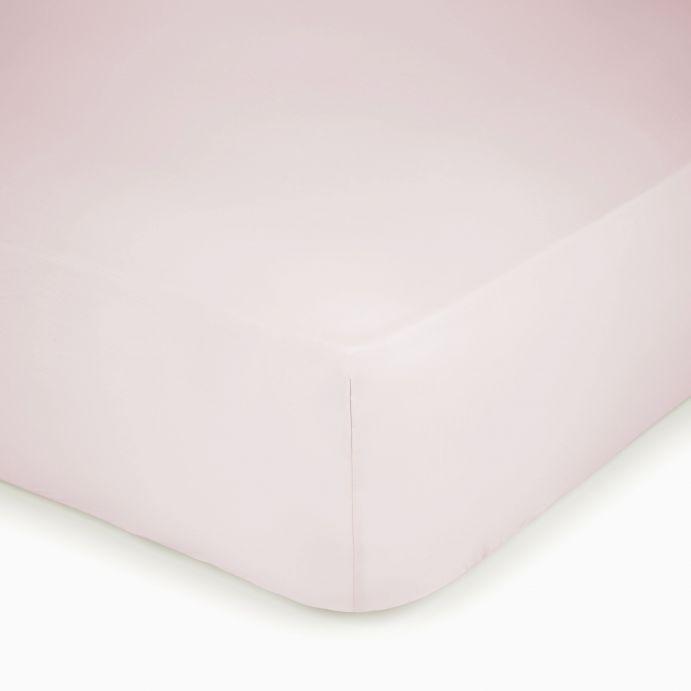 sábana bajera ajustable de algodón de máxima calidad color rosa