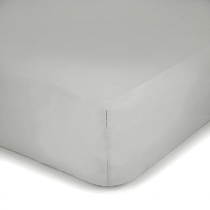sábana bajera gris claro 400 hilos colchón alto