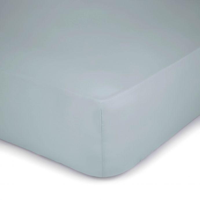 sábana bajera azul verdoso 400 hilos colchón alto