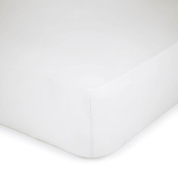sábana bajera blanco 600 hilos colchón alto