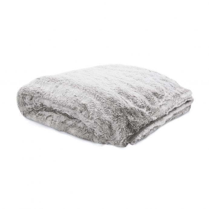 manta tipo peluche gris de diseño para camas bonitas