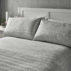 ropa de cama de diseño y calidad en gris plata para camas bonitas