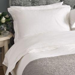 ropa de cama de alta calidad en blanco con cenefa de vainica de diseño para camas bonitas