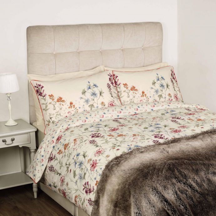 ropa de cama de flores de colores naturales de diseño para camas bonitas