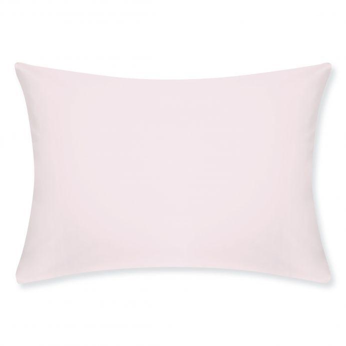dos fundas de almohada lisas algodón percale 200 hilos rosa maquillaje sin volante