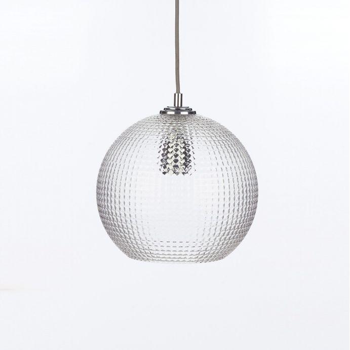 lámpara de cristal de diseño tipo globo