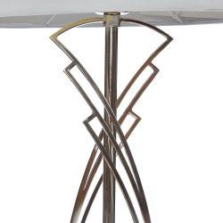 lámpara completa con base de metal de diseño y pantalla natural