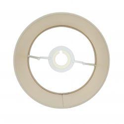 pantalla para lámpara de diseño moca tostado con interior metalizado