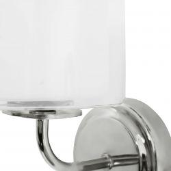 aplique de pared de diseño con pantalla de cristal blanco