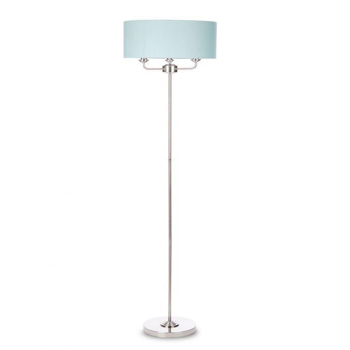 lámpara de suelo de diseño con pantalla azul