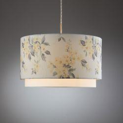 pantalla de lámpara de techo con estampado de flores de diseño