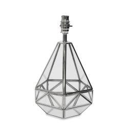pie de lámpara de cristal en forma de diamante de diseño