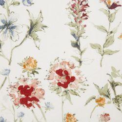Cojín con diseño de flores silvestres de colores bordadas