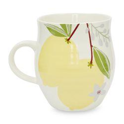 taza cerámica de limones de diseño