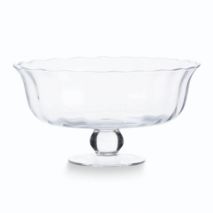 fuente de cristal con peana de diseño
