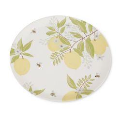 bandeja de melamina con estampado de limones