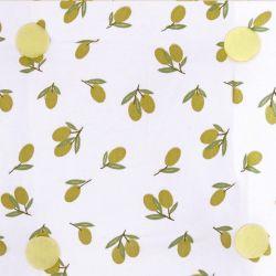 cojín para silla amarillo con limones de diseño