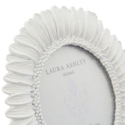 marco de fotos con forma de margarita blanca de diseño