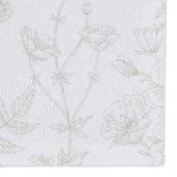 bolsa para pinzas de algodón gris con flores y percha de diseño