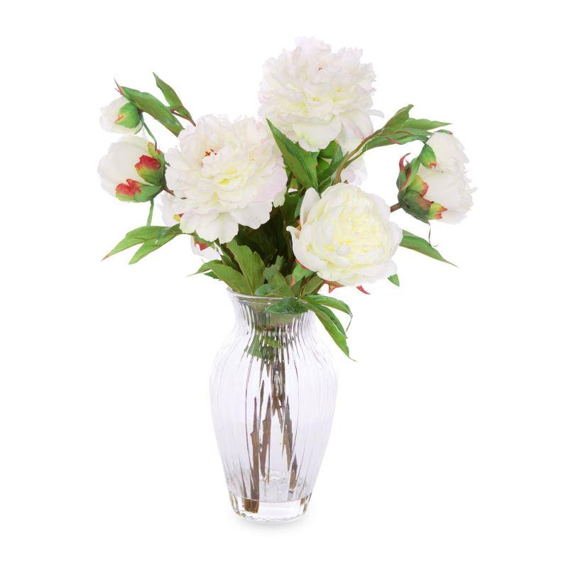 Arreglo Floral White Peonies En Jarrón Laura Ashley Decoración