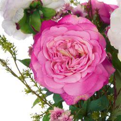 arreglo floral Pink Peonies & Foliage en jarrón