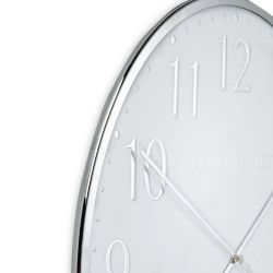 reloj de pared cromado de diseño