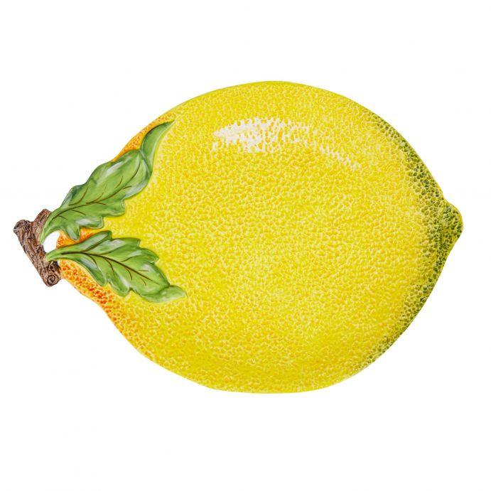 fuente para cocina con diseño de limón amarillo