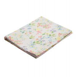 mantel camino de mesa de algodón estampado con flores color pastel