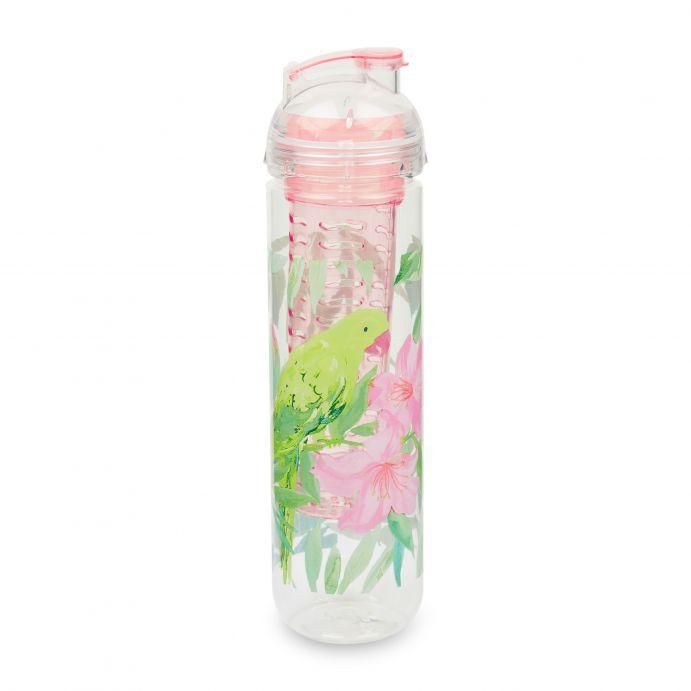 botella con filtro para agua con sabor estampado tropical de diseño