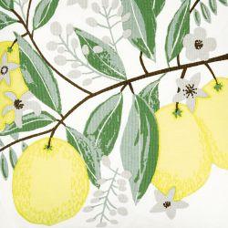 cojín de limones amarillos de diseño