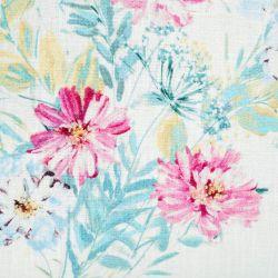 cojín de flores de colores con abalorios de diseño