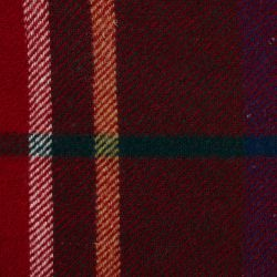 cojín de lana de cuadros rojos de diseño clásico rústico tradicional