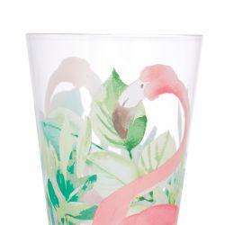 vaso de melamina con flamenco, de diseño, no se rompe, perfecto para picnic